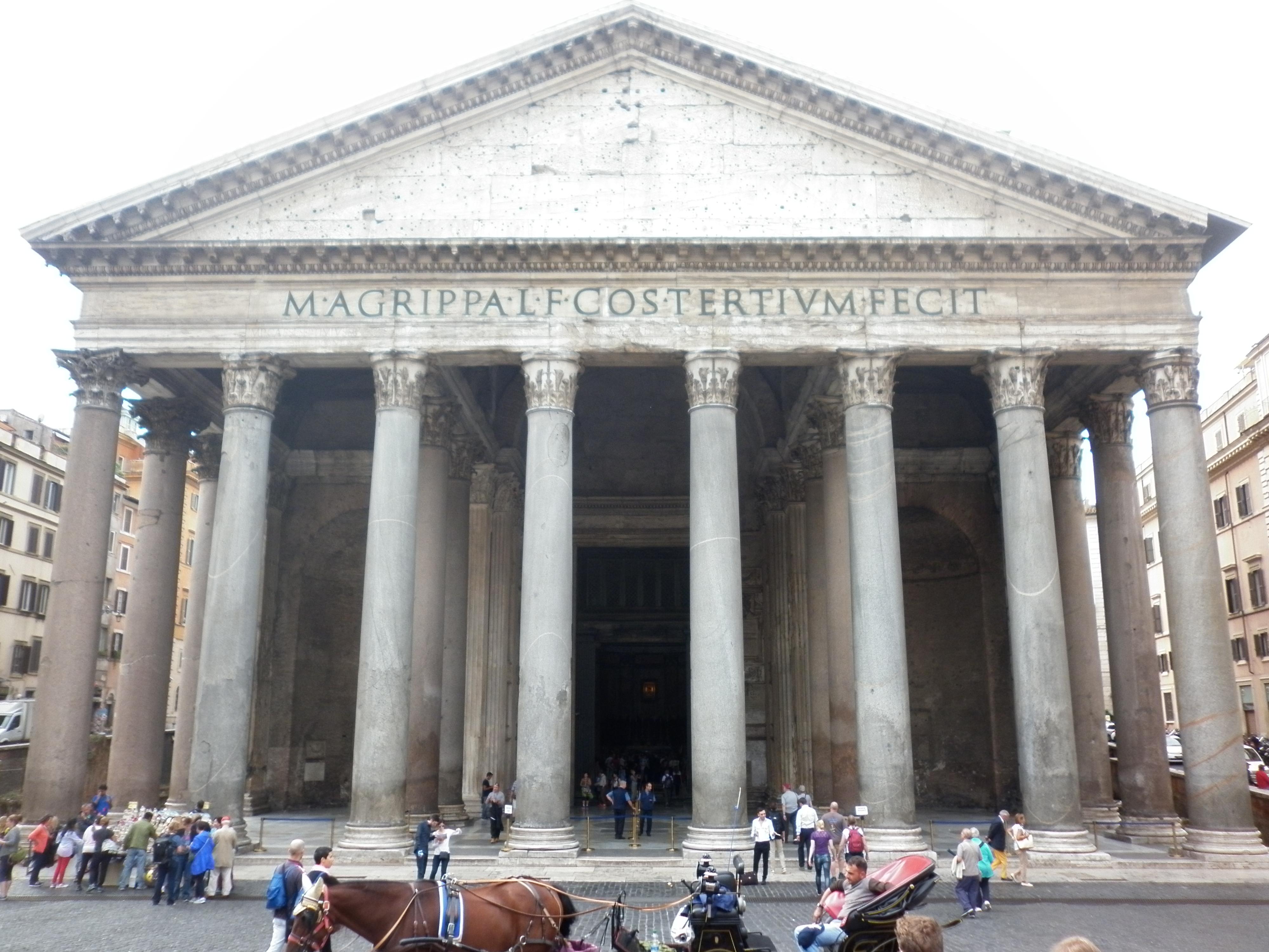 Pantheon architettura e tecnica costruttiva 2la for Esterno pantheon