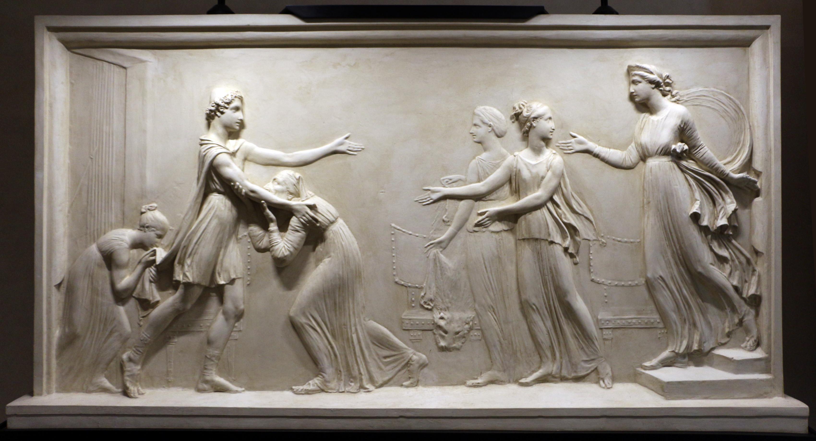 Antonio_canova,_ritorno_di_telemaco_a_itaca_e_incontro_con_penelope,_1787-91,_01