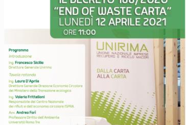 Il Decreto 188/2020 – End of Waste carta